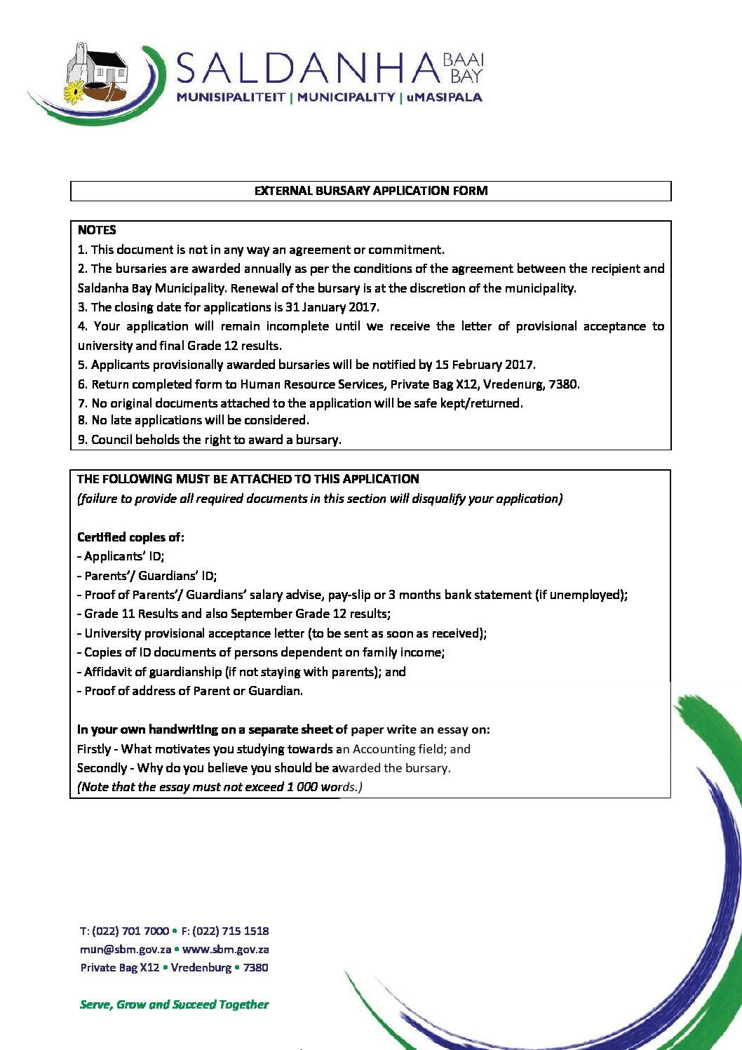 Index of wp contentuploads201701 saldanha bay municipality bursary application formg altavistaventures Choice Image